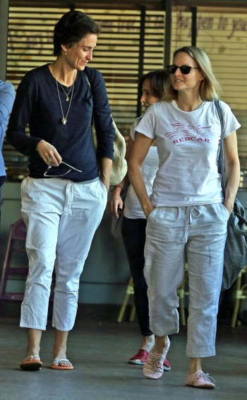 Jodie Foster and wife Alexandra Hedison,