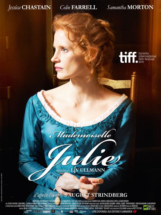 Mademoiselle julie jessica chastain