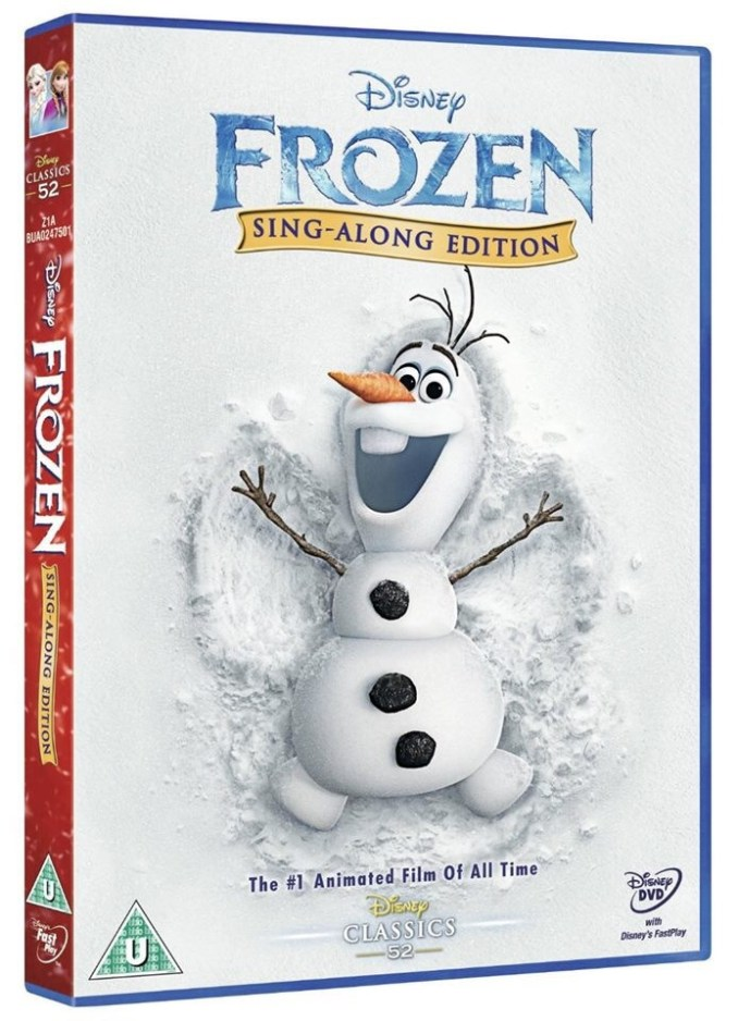Frozen Sing AlonG DVD UK