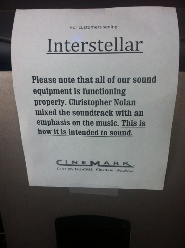 Interstellar souci de so,n