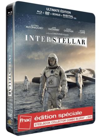 Interstellar bluray Fnac Steelbook FR