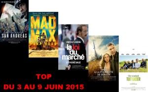 TOP 3 AU 9 JUIN 2015