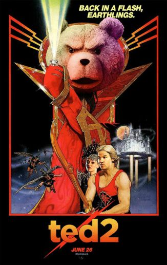 Ted 2 Flash gordon hommage poster