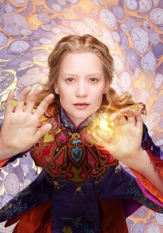 Mia Wasikowska is Alice in Alice Through the Looking Glass.