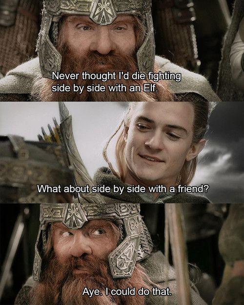 Legolas Gimli Bromance