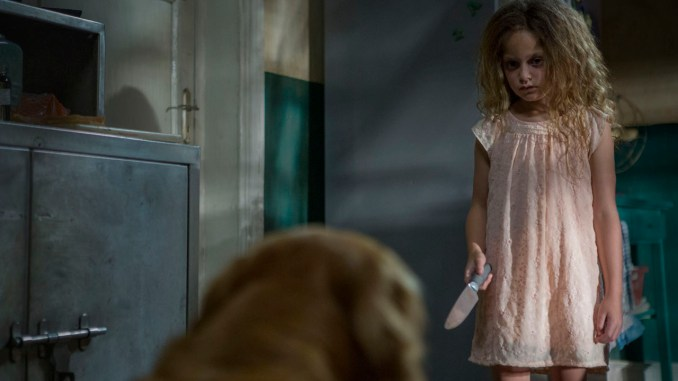 Lucy (Sofia Rosinsky) is possessed by an evil spirit.