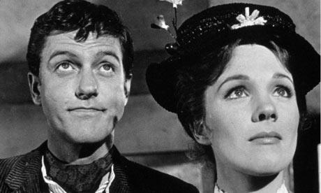 Julie Andrews Dick Van Dyke mary poppins