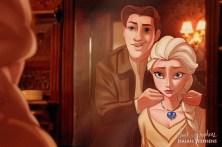 Hans et Elsa - La reine des neiges