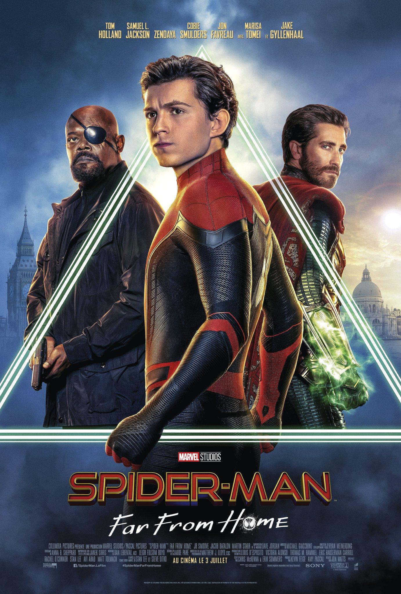 Nouvelle Affiche Fran 231 Aise Pour 171 Spiderman Far From