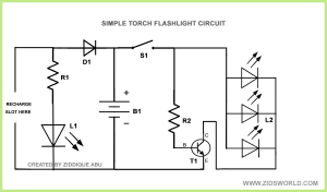 Simple Flashlight Parts Diagram