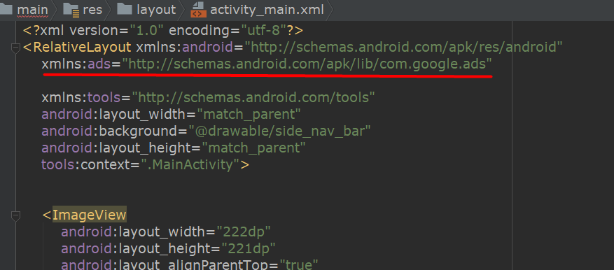 Fix Namespace 'ads' not bound in Android Studio Xml Java - Zid's world