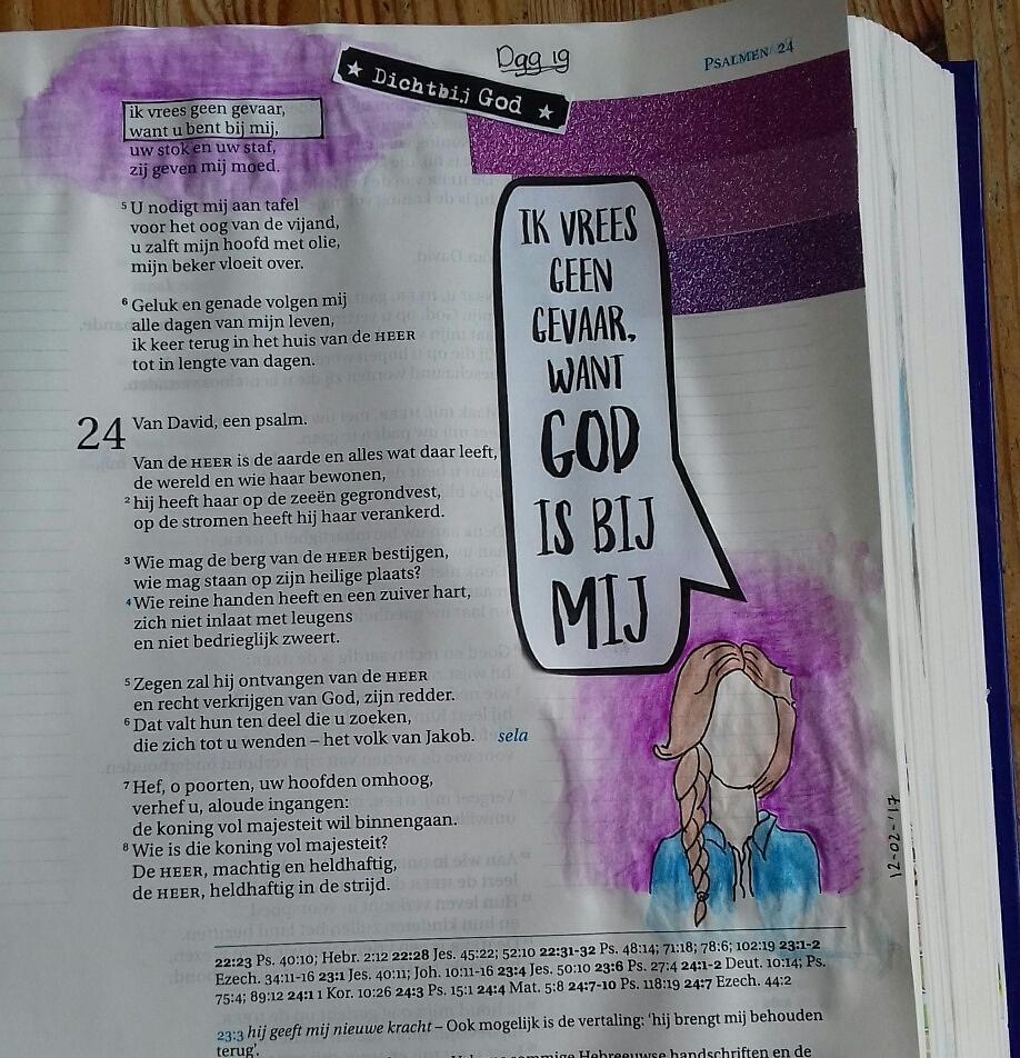 Bijbeljournaling door Ellen Ik vrees geen gevaar