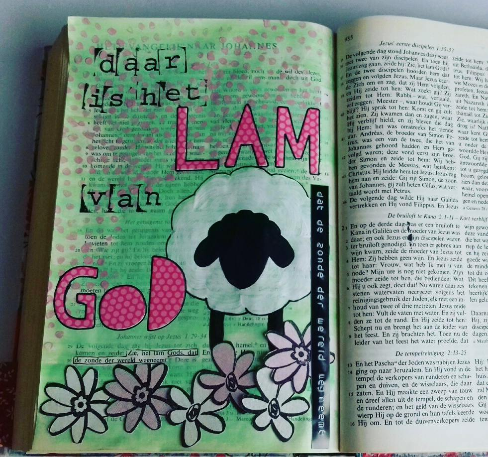 Biblejournaling Zie het Lam