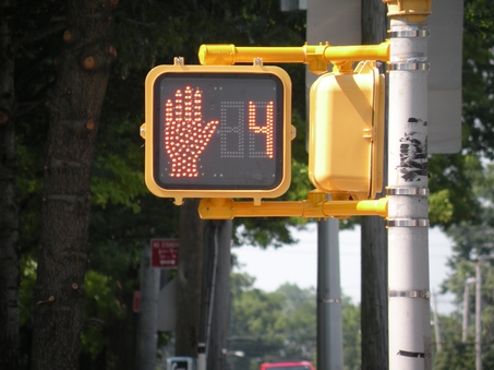 Crosswalk Light Red - Elmira Injury Lawyer Learns a Lesson About Crosswalk Safety!