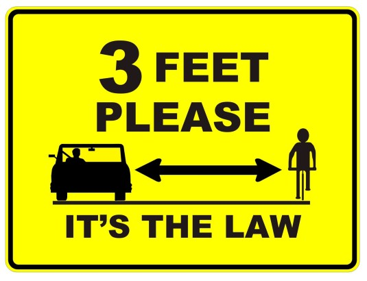 Many states say 3 feet is a safe passing distance, but Pennsylvania says it's 4 feet.
