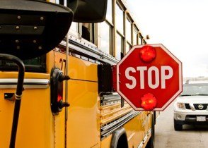 Bus stop sign - Q&A: School Bus Accidents, Snow Days Were Hot Topics On Recent 'Law Talk'