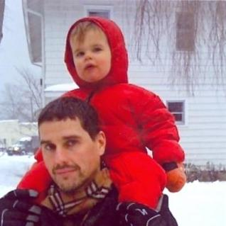 Matthew Miller and his son, Holden.