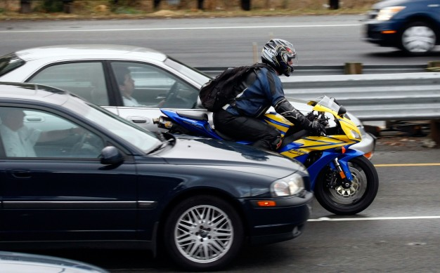 Motorcycle Lane Splitting 626x389 - True Story: Loud Pipes Really Do Save Lives, Says NY and PA Motorcycle Lawyer