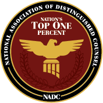 NADC logo 200 - Ziff Law's Adam Gee Rated Among The Top Trial Lawyers In The Country By National Organization!