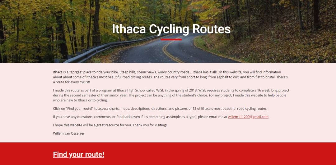 Ithaca Cycling Routes - Explore Scenic Ithaca Area Using Teen's Great Cycling Routes Website