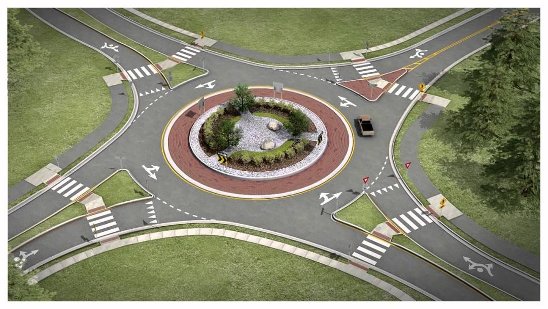 main photo - What Twin Tiers Drivers Need To Know About Roundabout Safety