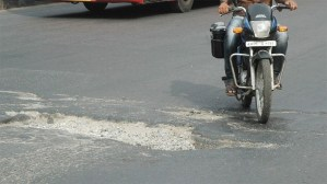 Potholes 1 - Pothole Season A Clear And Present Danger This Spring In Twin Tiers, Says NY and PA Motorcycle Law Lawyer
