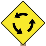 roundabout ahead 150x150 - New Roundabout Opens In Elmira, And City Should Educate Drivers About Safe Navigation
