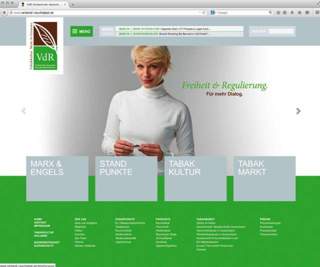 Screenshot Website VdR