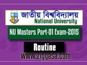 NU Masters Exam Routine 2015