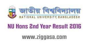NU Hons 2nd Year Exam (Special) Result 2016