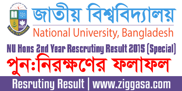 NU Honours 2nd Year Exam Rescrutiny Result 2015