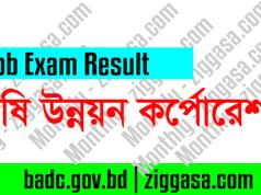 BADC Computer Operator MCQ Exam Result 2018