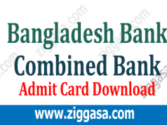 Combine Four Bank Admit Card Download 2019