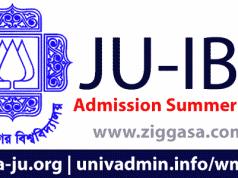 JU IBA MBA Admission 2018
