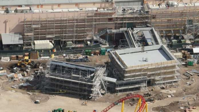 Toy Story Land Construction Update February midway mania queue