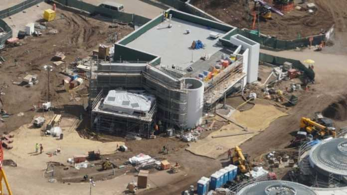 Toy Story Land Construction Update February woody's lunch box
