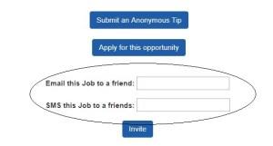 invite friends for Jobs