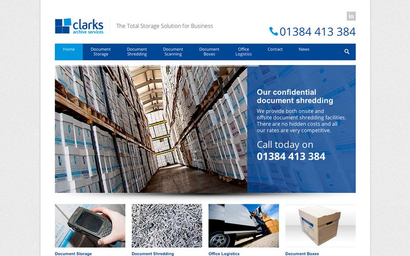Clarks Archive Services Website