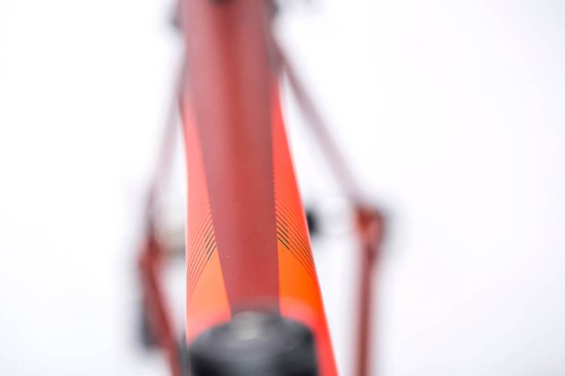 Cube Axial Redwood 'n' 'Flashred damesracefiets