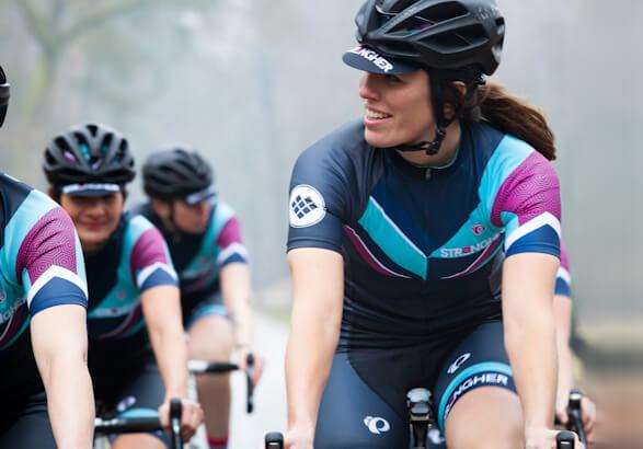 Strongher platform voor vrouwen die wielrennen