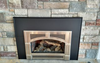 Lopi 32 DVS Gas insert with Nickel Wilmington Face and large surround