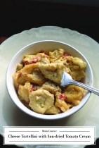 Recipe from ZHG: Cheese Tortellini with Sun-dried Tomato Cream