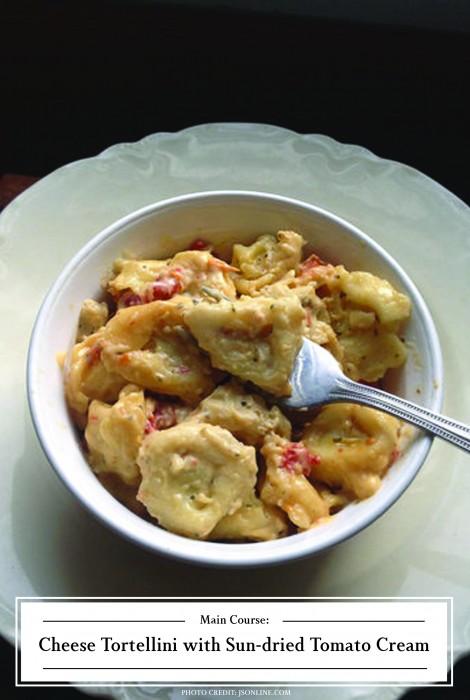 ZHG's Cheese Tortellini with Sun-dried Tomato Cream
