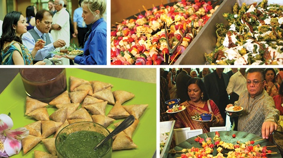 ZHG's Indian Cuisine at Nayana & Arun's wedding.
