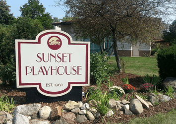 Front view of the Sunset Playhouse