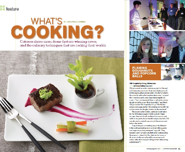 Zilli Hospitality Group Featured in What's Cooking?