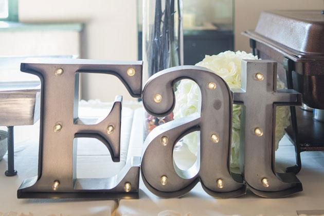 Eat Wedding Signage