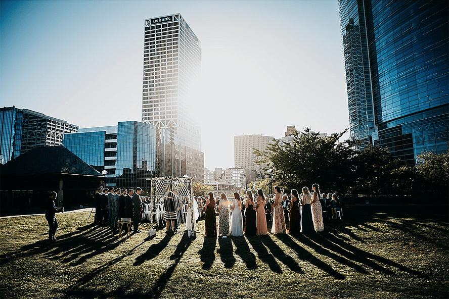 Outdoor Wedding at North Gardens