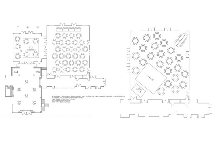 Boerner Botanical Garden Wedding Floor Plans