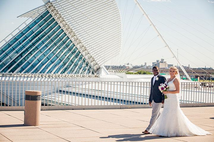 Ashley & LaQuan Wedding at Milwaukee War Memorial